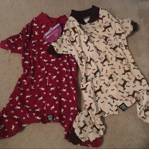 NEW! Set of two dog pajama outfits
